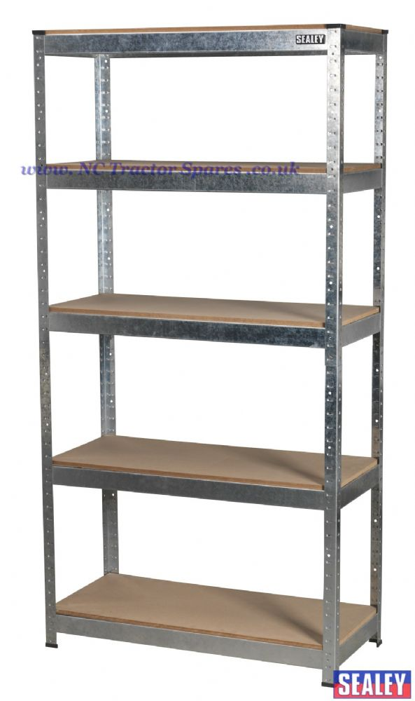 5 Shelf Racking Unit 350kg Capacity Per Level